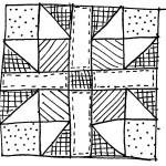 quilt block doodle 5