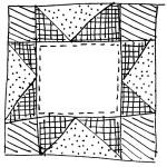 quilt block doodle 3